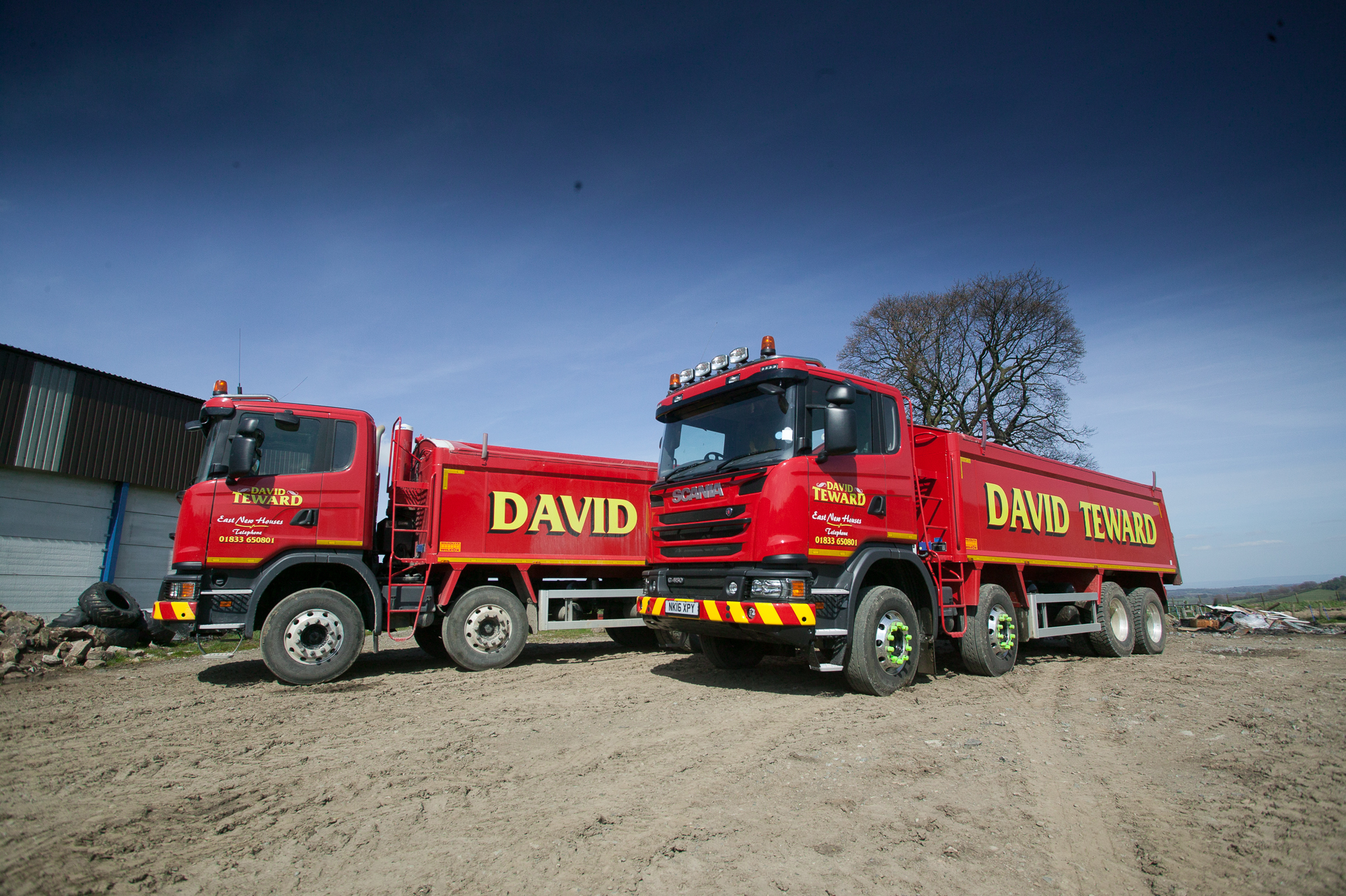 Lime spreading services in the north of England and County Durham